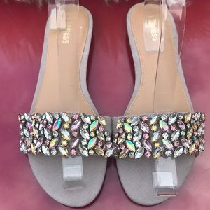 Express amazing rhinestones sandals new with tags